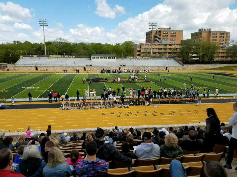 Seating view for Welch Stadium Section M Row 21 Seat 1