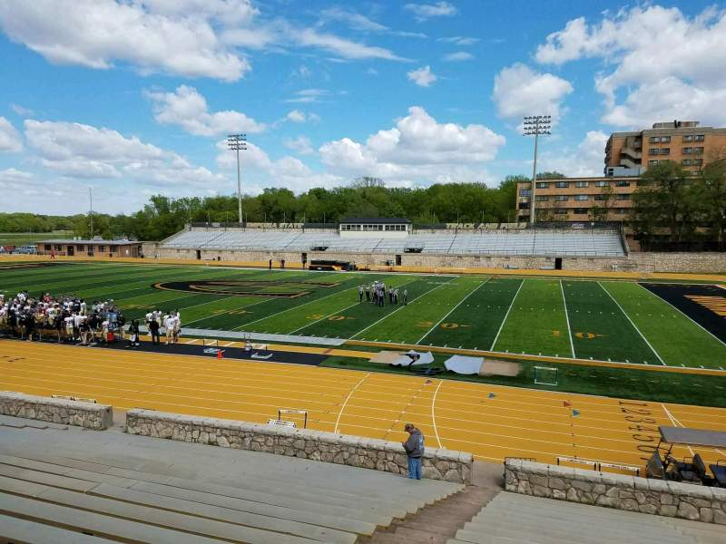 Seating view for Welch Stadium Section R Row 20 Seat 20