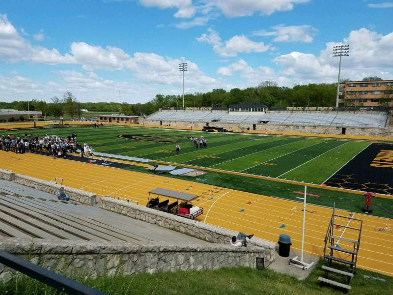 Seating view for Welch Stadium Section S Row 1 Seat 5