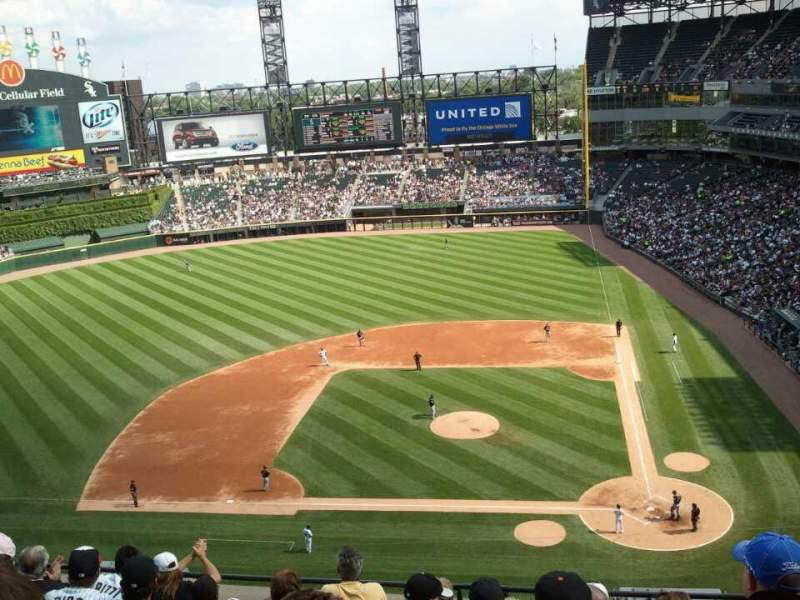 Seating view for U.S. Cellular Field Section 537 Row 7 Seat 10