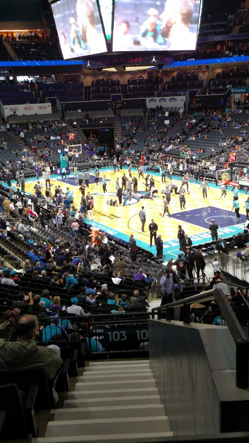 Seating view for Spectrum Center Section 103 Row AA Seat 3