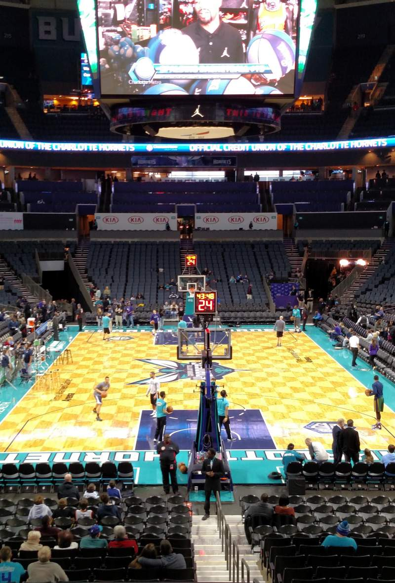 Seating view for Spectrum Center Section 117 Row R Seat 12