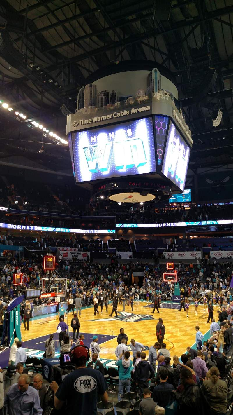 Seating view for Spectrum Center Section 116 Row L Seat 35