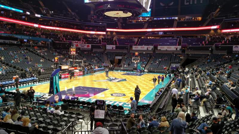 Seating view for Spectrum Center Section 116 Row S
