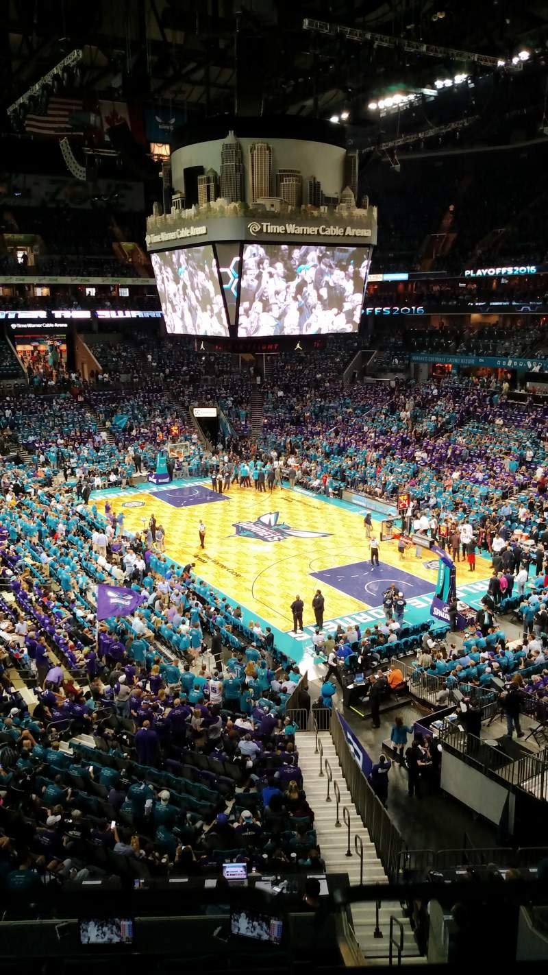 Seating view for Spectrum Center Section S28 Row 1 Seat 1