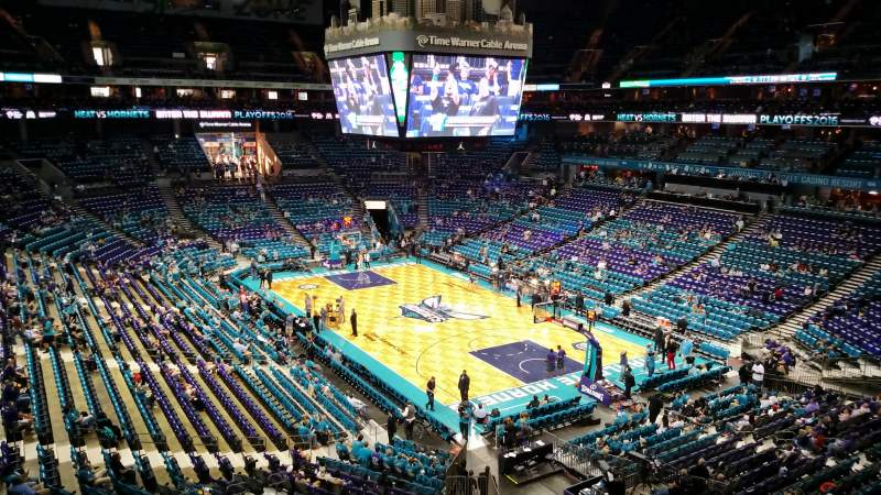 Seating view for Spectrum Center Section S28 Row 1