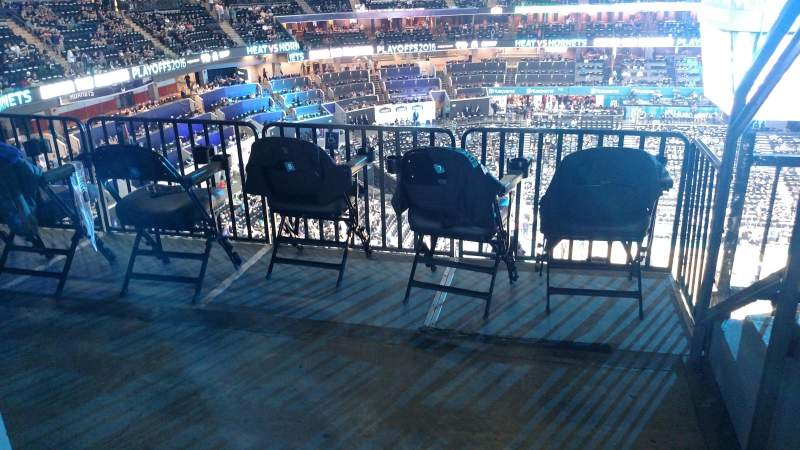 Seating view for Spectrum Center Section 210 Row C