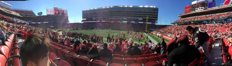 Seating view for Levi's stadium Section 109 Row 11 Seat 11