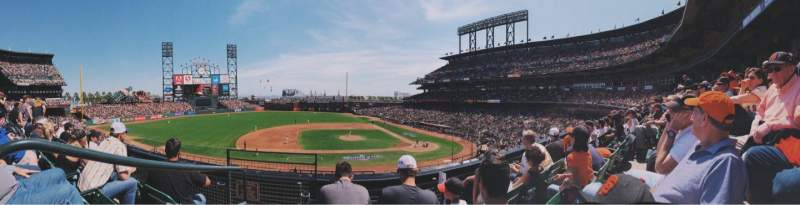 Seating view for AT&T Park Section 222 Row C Seat 16