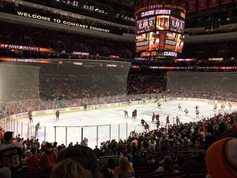 Seating view for Wells Fargo Center Section PS22 Row 1 Seat 6