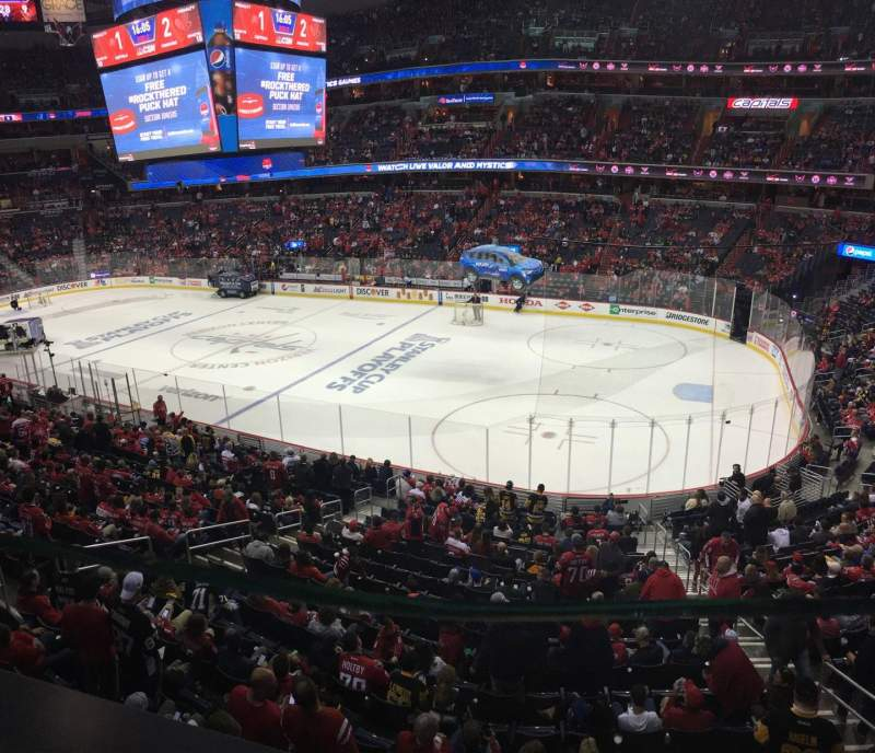 Seating view for Capital One Arena Section 218 Row A Seat 4
