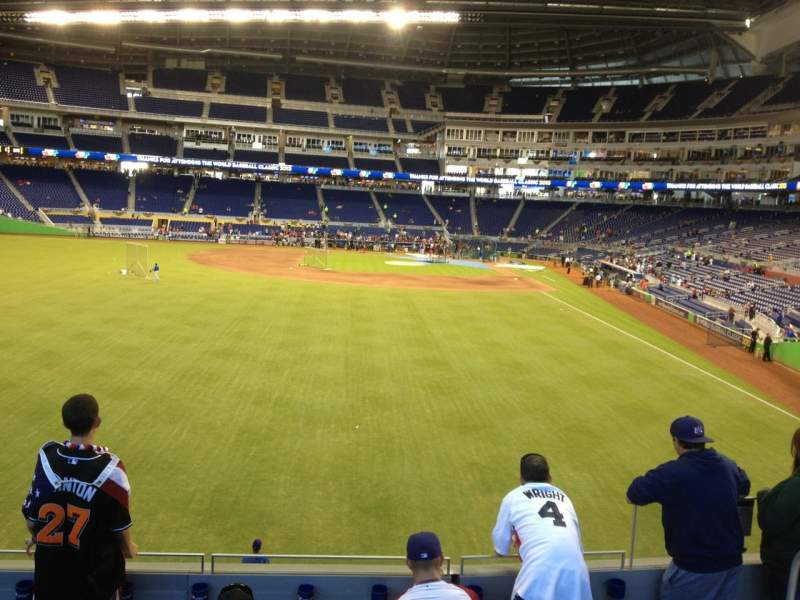 Seating view for Marlins Park Section 31 Row 5 Seat 5