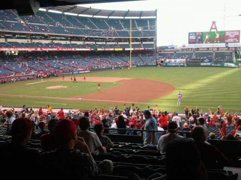 Seating view for Angel Stadium Section 225 Row J Seat 25