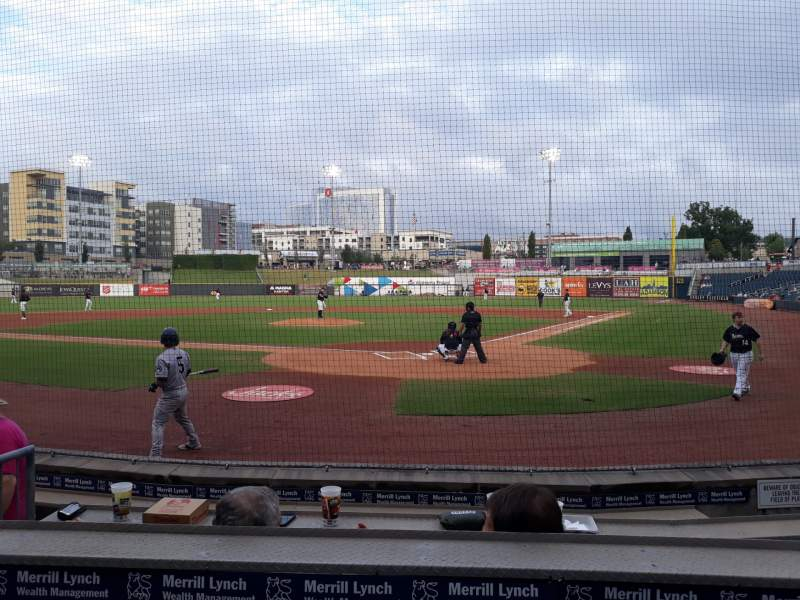 Seating view for Regions Field  Section 107 Row F Seat 6