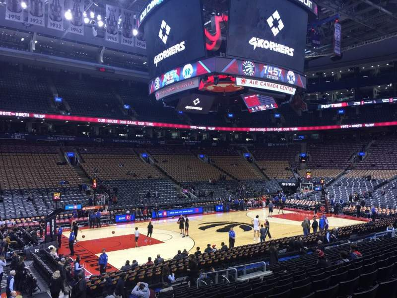 Seating view for Air Canada Centre Section 110 Row 17 Seat 4