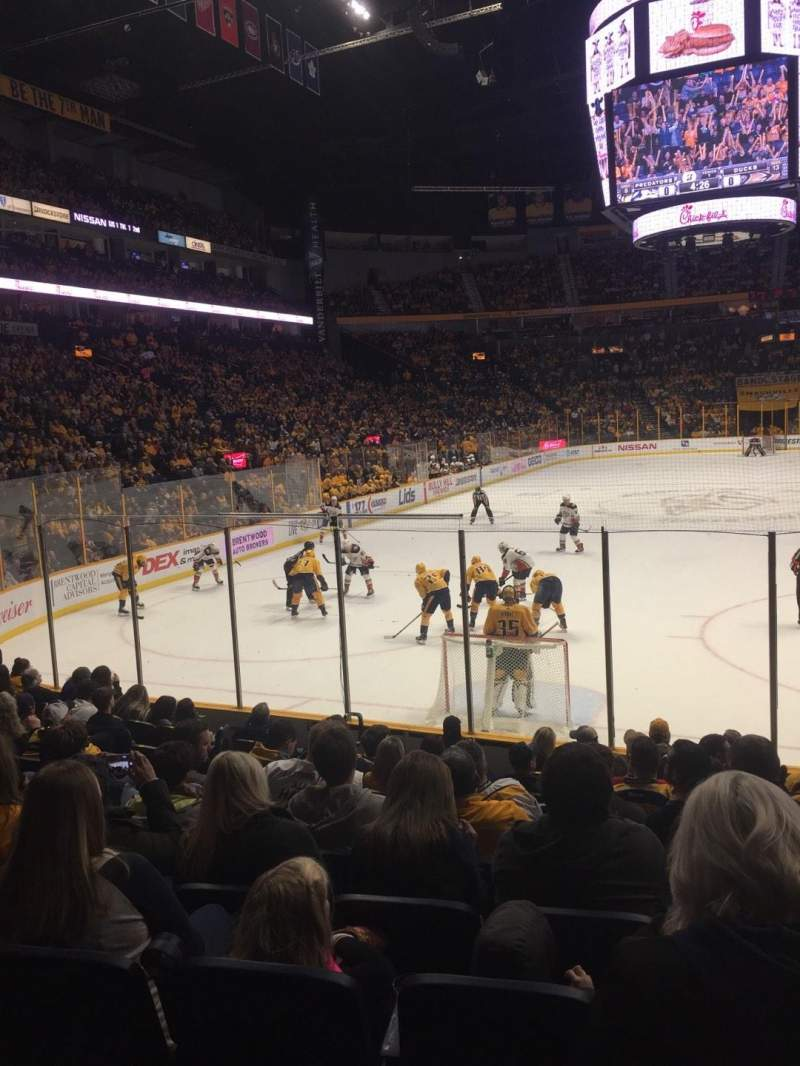 Seating view for Bridgestone Arena Section 101 Row MM Seat 9