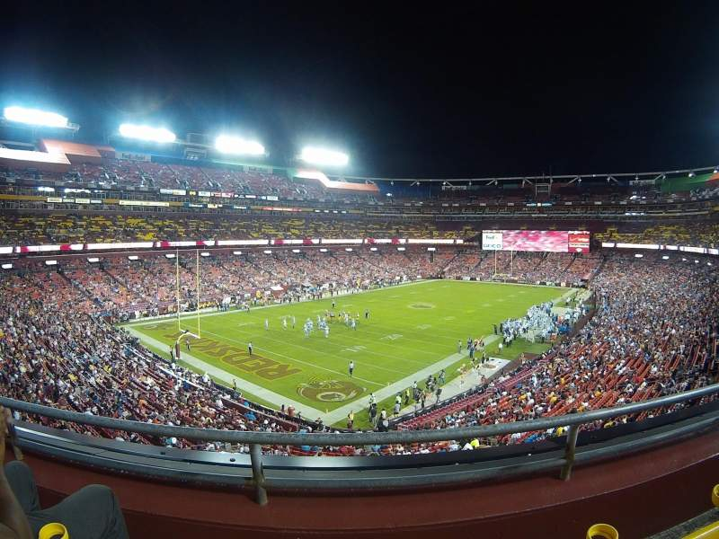 Seating view for FedEx Field Section 328 Row 2 Seat 13