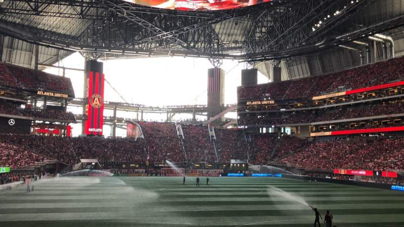 Seating view for Mercedes-Benz Stadium Section 120 Row 11 Seat 16