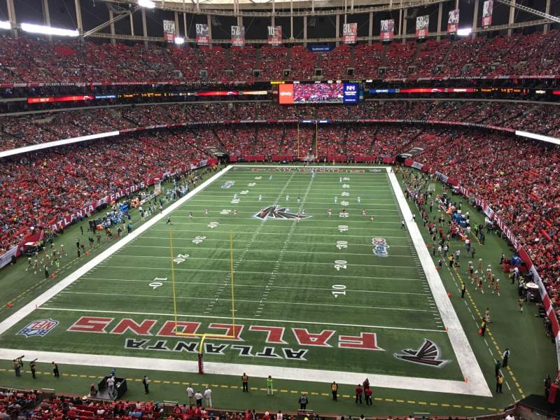 Seating view for Georgia Dome Section 333 Row 1 Seat 7