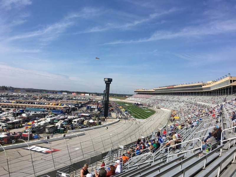 Seating view for Atlanta Motor Speedway Section 106 Row 14 Seat 1
