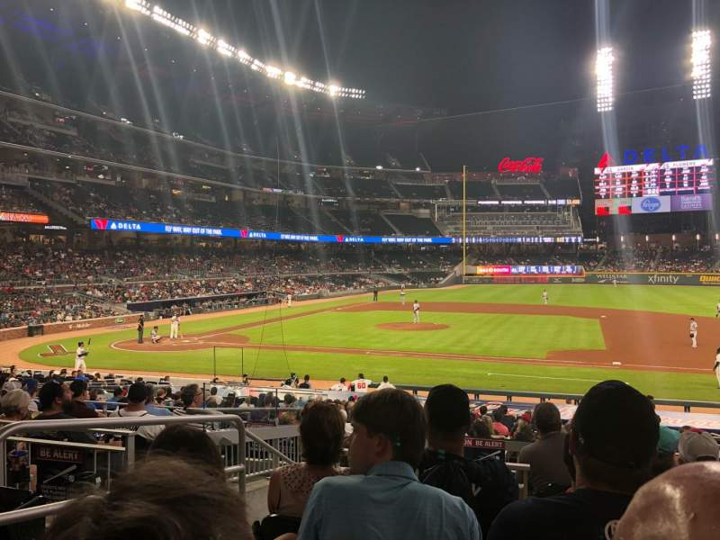 Seating view for SunTrust Park Section 116 Row 10 Seat 19
