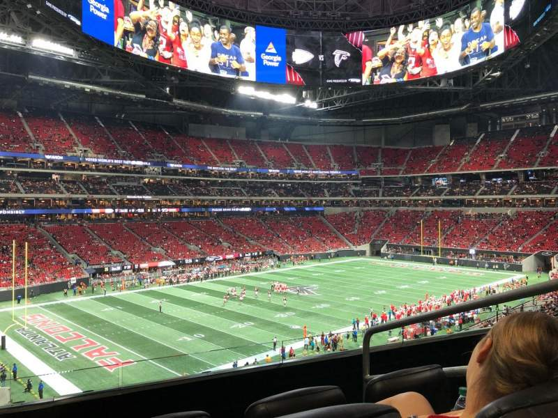 Seating view for Mercedes-Benz Stadium Section Suite 196