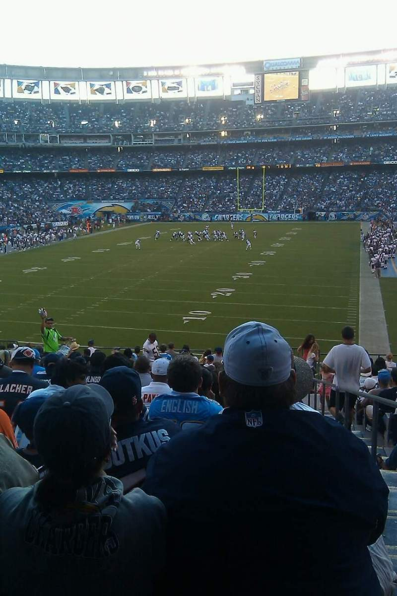 Seating view for Qualcomm Stadium Section P54 Row 16 Seat 18