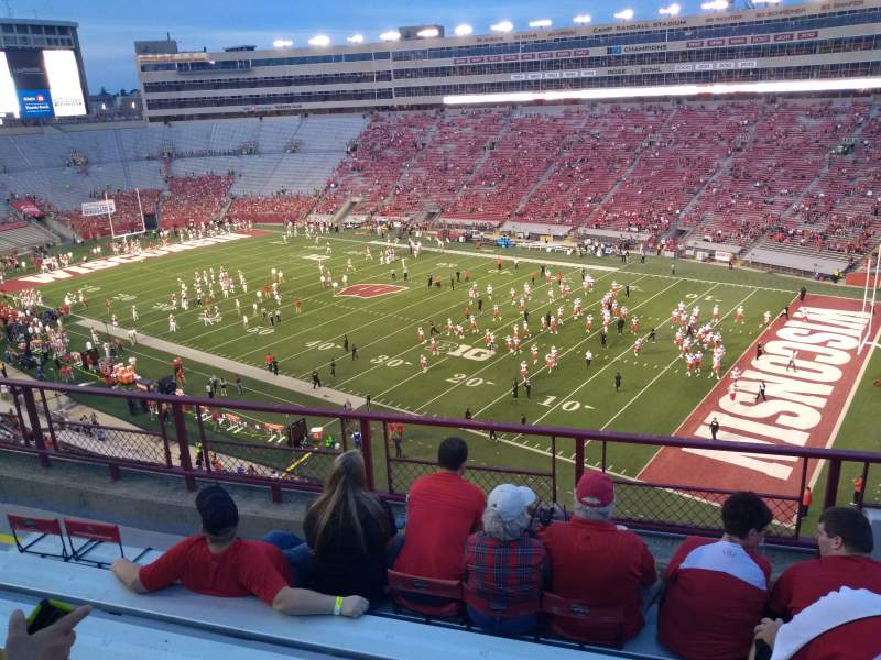 Seating view for Camp Randall Stadium Section BB Row 6 Seat 22