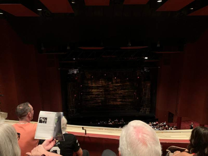 Seating view for San Diego Civic Theatre Section Balcony L Row R Seat 7