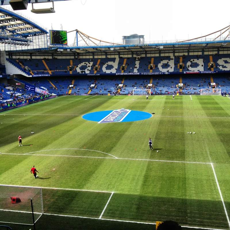 Seating view for Stamford Bridge Section Shed End Upper 2 Row 16 Seat 111