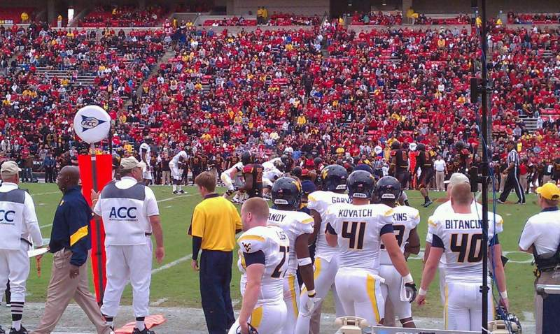 Seating view for Maryland Stadium Section 6 Row A Seat 1
