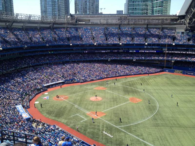 Seating view for Rogers Centre Section 514R Row 15 Seat 7-8