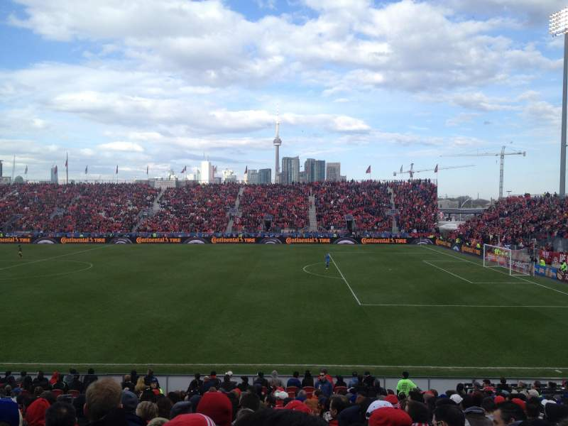 Seating view for BMO Field Section 121