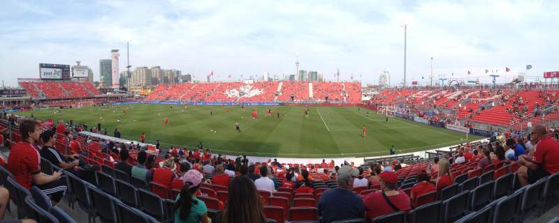 Seating view for BMO Field Section 121 Row 17 Seat 18