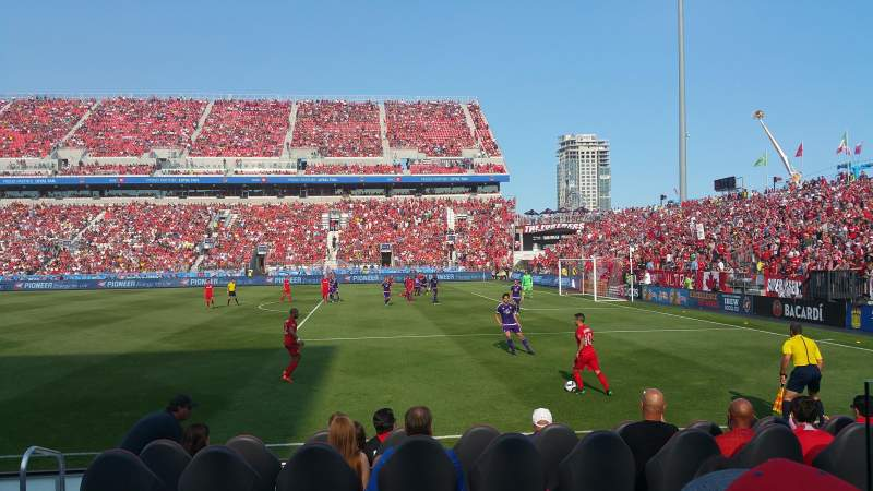 Seating view for BMO Field Section 121 Row 3