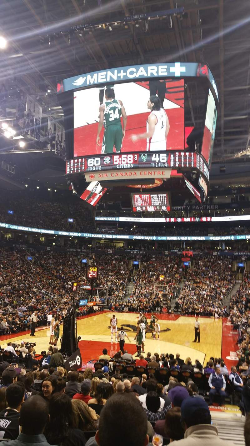 Seating view for Air Canada Centre Section 102 Row 10 Seat 1