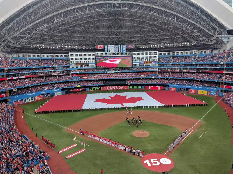 Seating view for Rogers Centre Section 525R Row 3 Seat 3