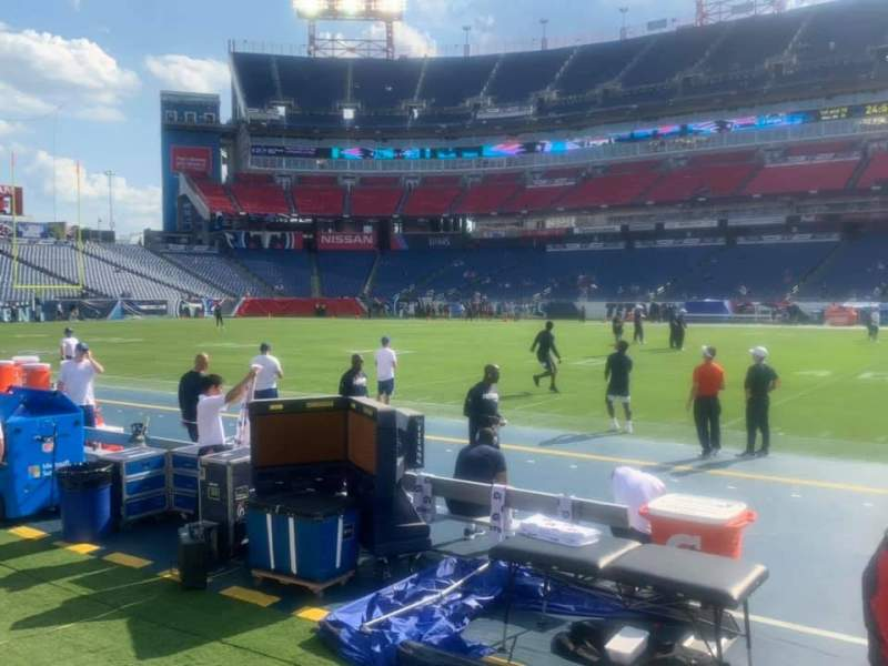 Seating view for Nissan Stadium Section 111 Row A Seat 10