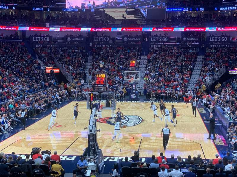 Seating view for Smoothie King Center Section 118 Row 23 Seat 20