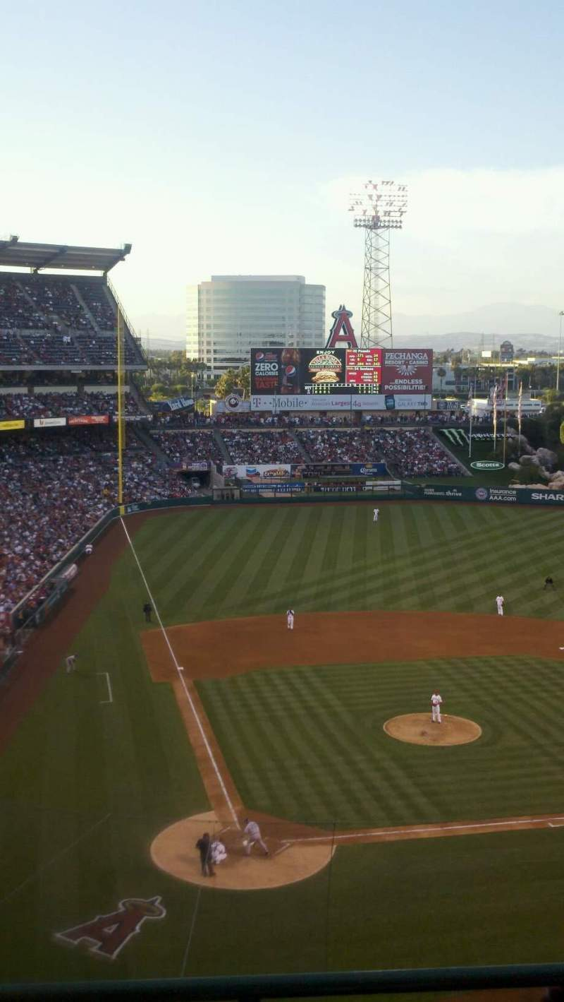 Seating view for Angel Stadium Section V524