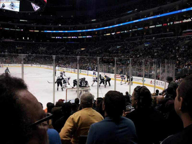 Seating view for Staples Center Section 107 Row 10 Seat 10