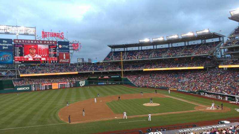 Seating view for Nationals Park Section 207 Row A Seat 7