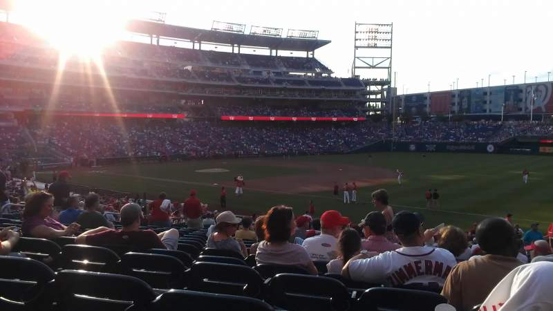 Seating view for Nationals Park Section 133 Row HH Seat 4, 5