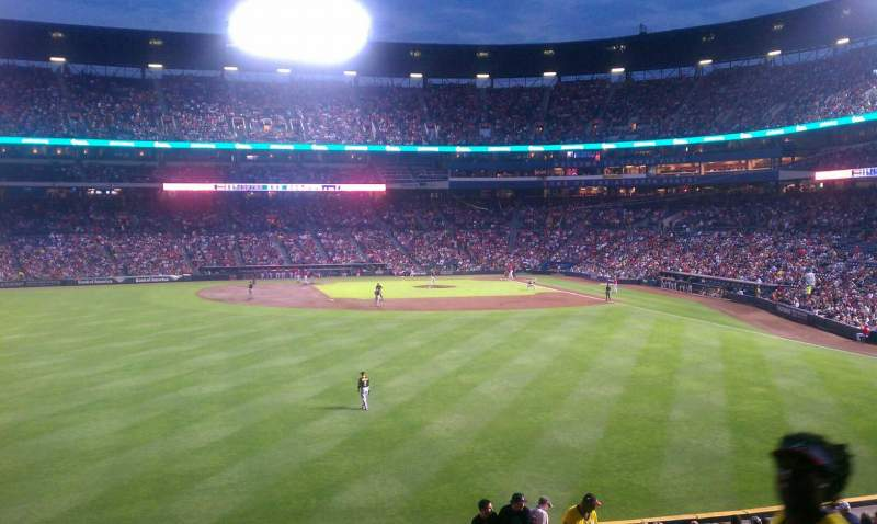 Seating view for Turner Field Section 240L Row 2 Seat 102