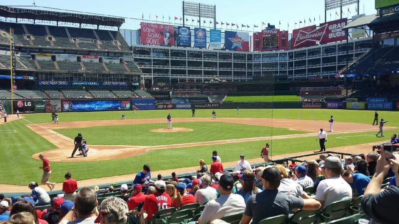 Seating view for Globe Life Park in Arlington Section 29 Row 14 Seat 8