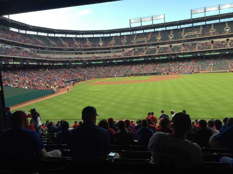 Seating view for Globe Life Park in Arlington Section 46 Row 18 Seat 13