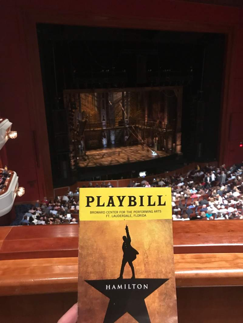 Seating view for Au-Rene Theatre at the Broward Center Section Lower Mezzanine  Row A Seat 131