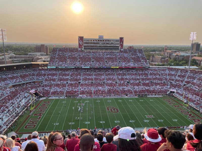 Seating view for Gaylord Memorial Stadium Section 232 Row 20 Seat 8