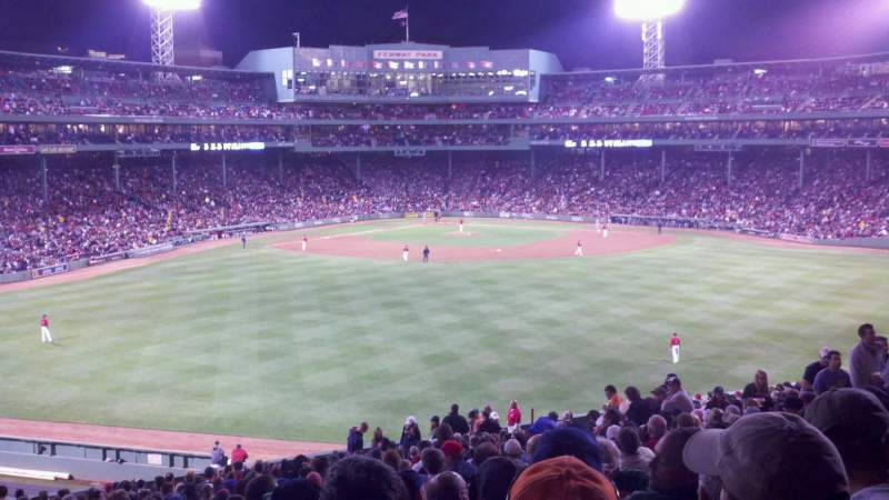 Seating view for Fenway Park Section Bleacher 37 Row 37 Seat 14