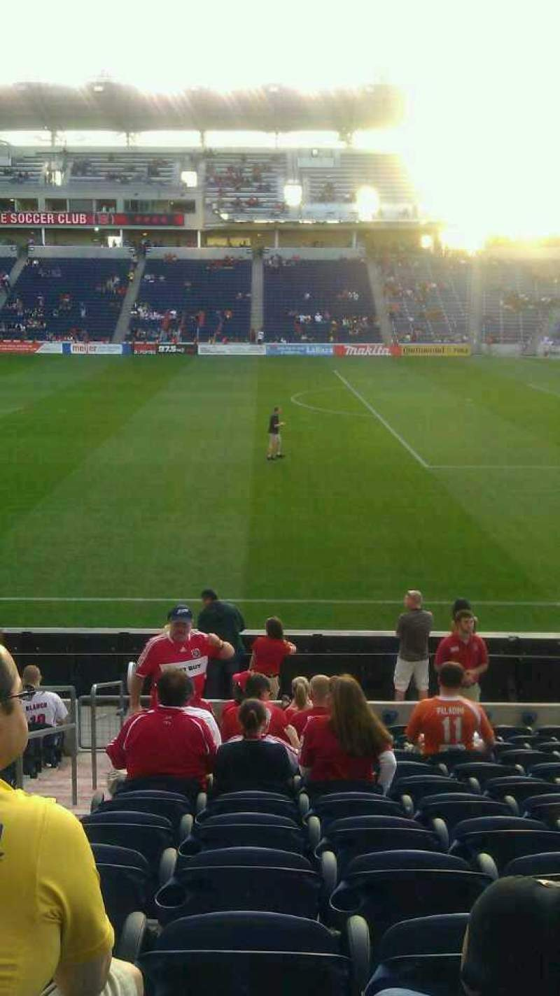 Seating view for Toyota Park Section 125 Row 13 Seat 21